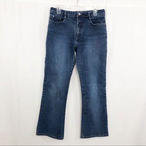 Express Flare High Waist Jeans, Size 13/14 Short
